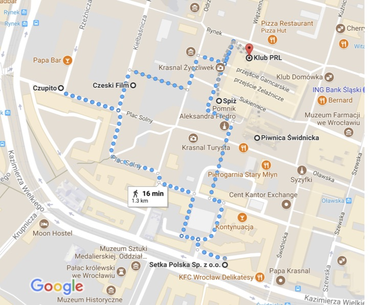 Pub Crawl Map